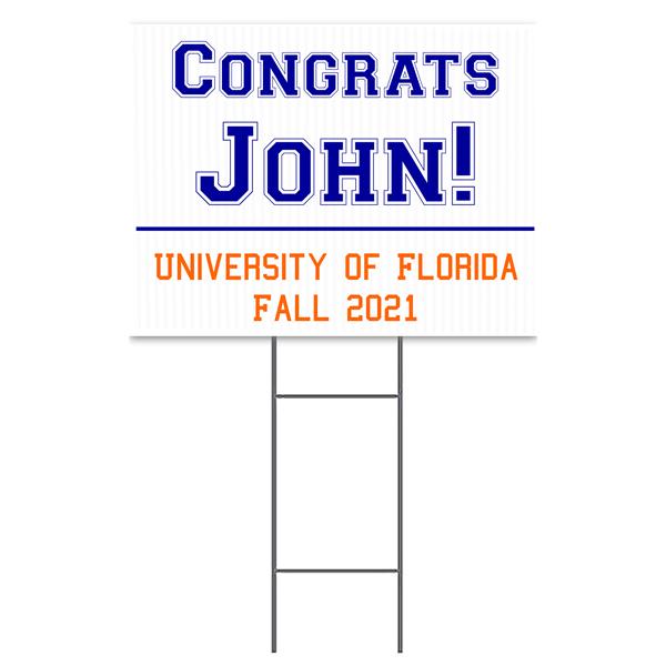 Congrats Collegiate Yard Sign