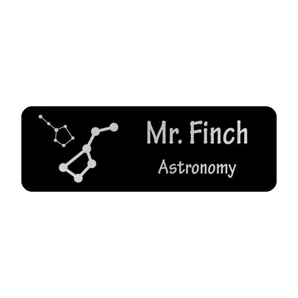 Constellations Astronomy Teacher School Name Tag