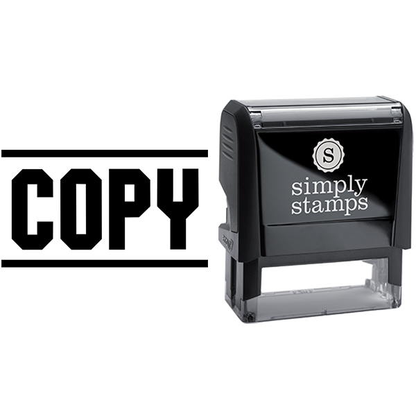 Copy in Block Lettering Business Stamp