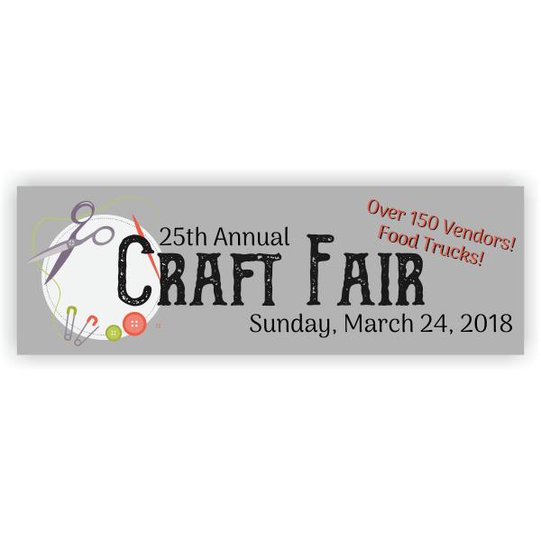 Craft Fair Banner - 2' x 6'
