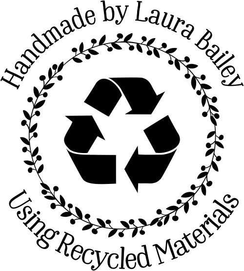 Custom Handmade Recycled Material Rubber Stamp