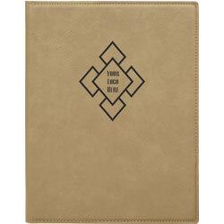 Custom Logo Leatherette Folio Small