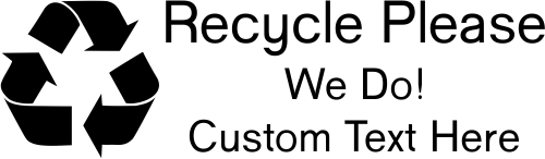 Custom Recycle Please Rubber Stamp