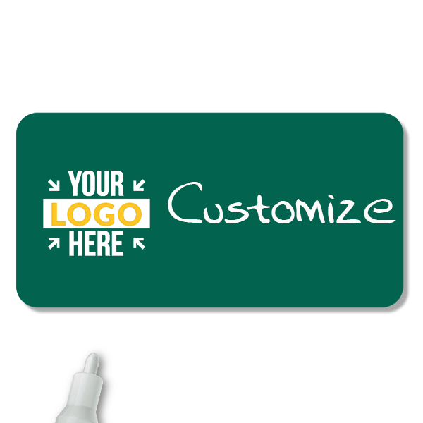 Customized 1.25 x 3 Chalkboard Reusable Name Tag