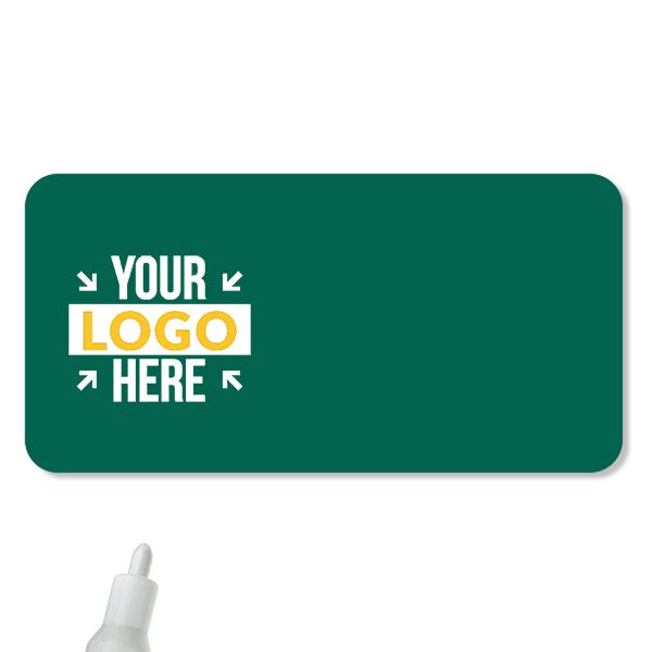 Customized 1.5 x 3 Chalkboard Reusable Name Tag - Blank