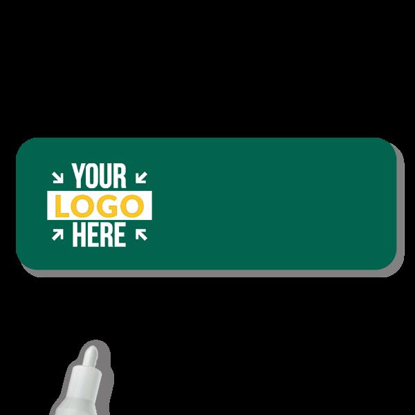 Customized 1 x 3 Chalkboard Reusable Name Tag - Blank