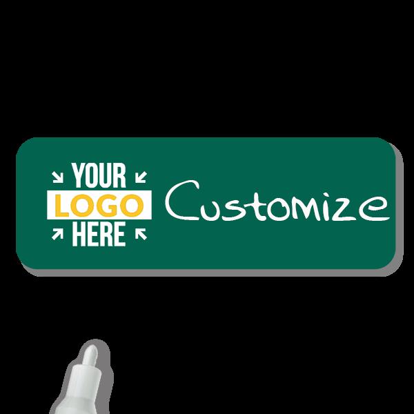 Customized 1 x 3 Chalkboard Reusable Name Tag