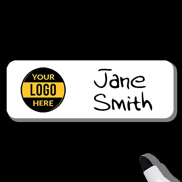 Customized 1 x 3 Dry Erase Reusable Name Tag - Example