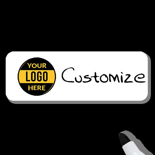 Customized 1 x 3 Dry Erase Reusable Name Tag
