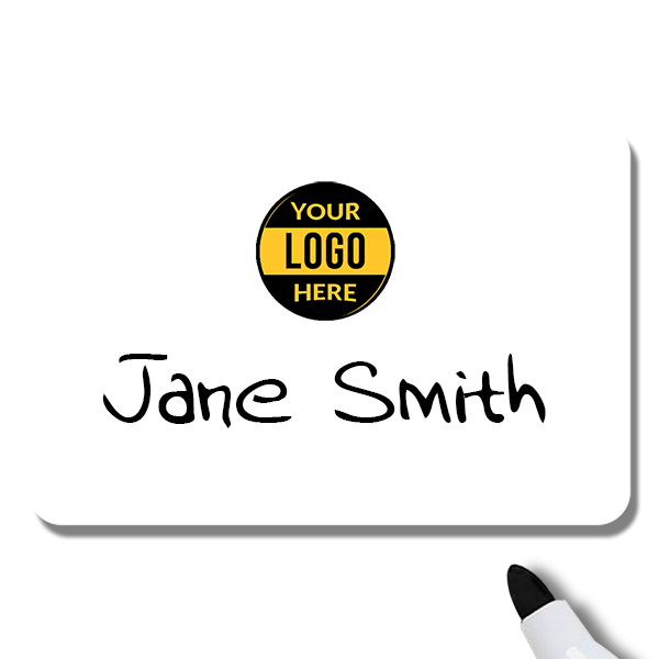 Customized 2 x 3 Dry Erase Reusable Name Tag - Example