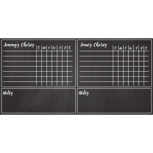 Customized Family Chore Chart Chalkboard