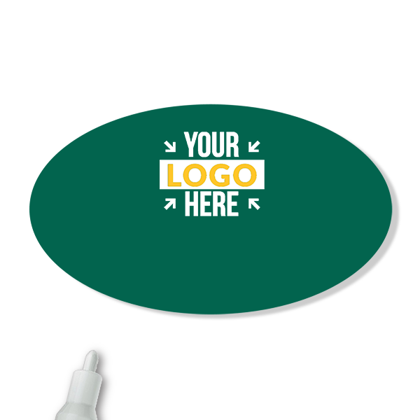 Customized Oval 1.75 x 3 Chalkboard Reusable Name Tag - Blank