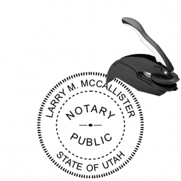 Utah Round Notary Seal