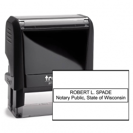 Wisconsin Rectangle Notary Seal
