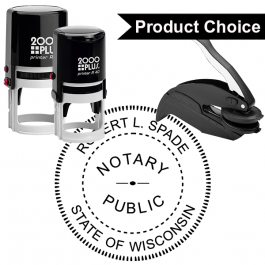 Wisconsin Round Notary Seal