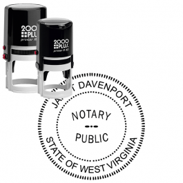 West Virginia Round Notary Seal