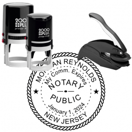 New Jersey Round Notary Seal