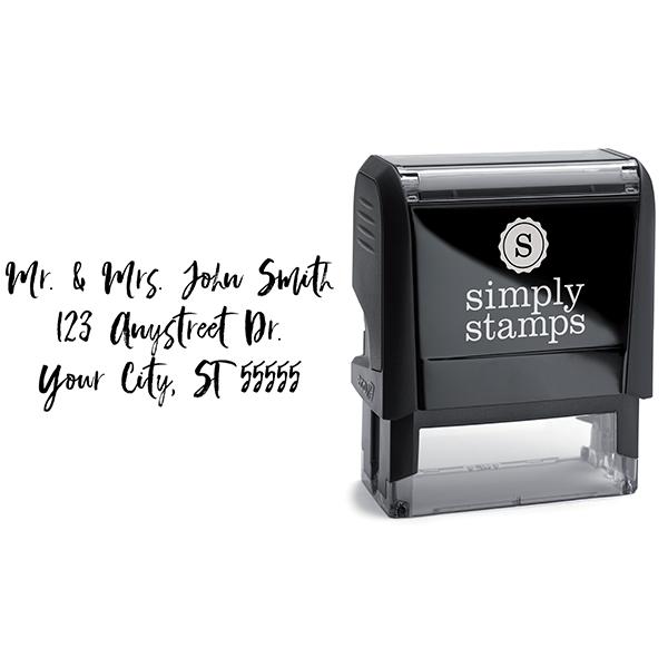 Script Custom 3 Line Stamp