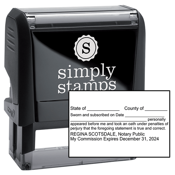 Louisiana Affadavit Notary Stamp
