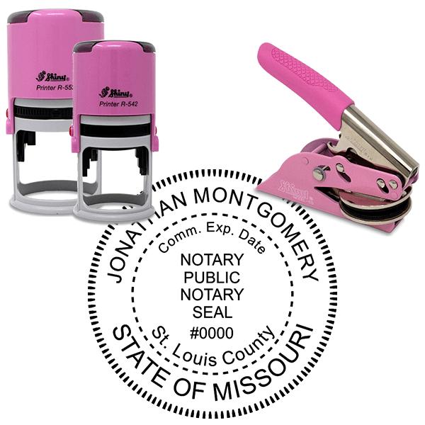Missouri Notary Pink - Round Design