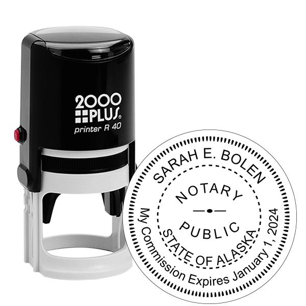 Alaska Notary Round Stamp