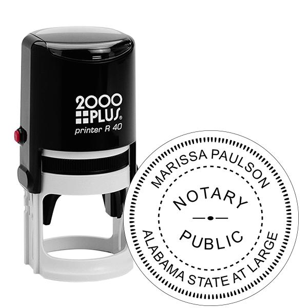 Alabama State at Large Notary Stamp