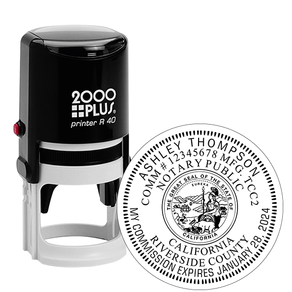 California Notary Round Stamp