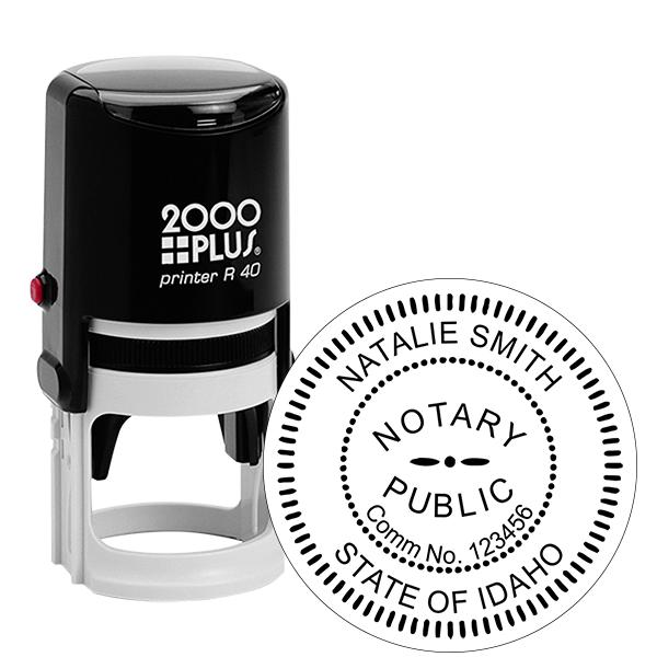 Idaho Notary Round Stamp