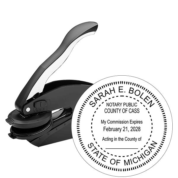 Michigan Notary Round Seal Embosser