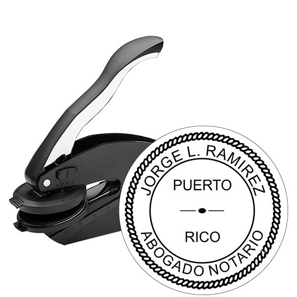 Puerto Rico Notary Seal Embosser