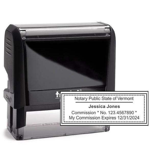 Vermont Notary Rectangular Stamp Seal