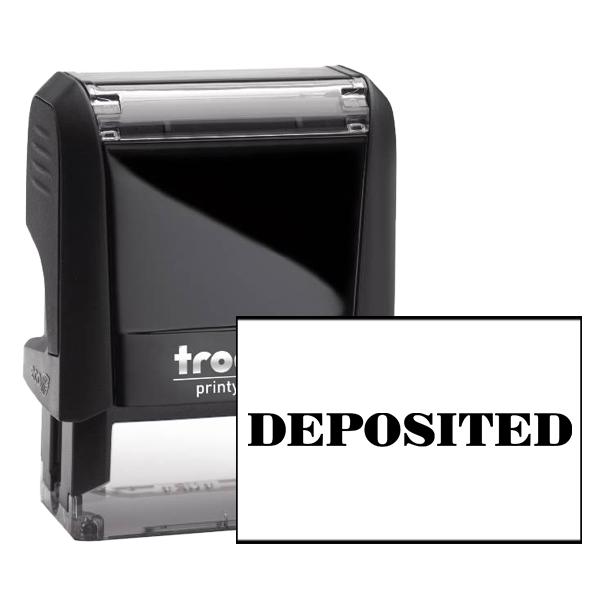 DEPOSITED Mobile Check Deposit Rubber Stamp