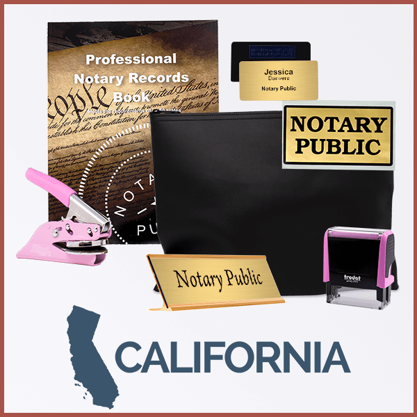 California Pink Deluxe Notary Kit