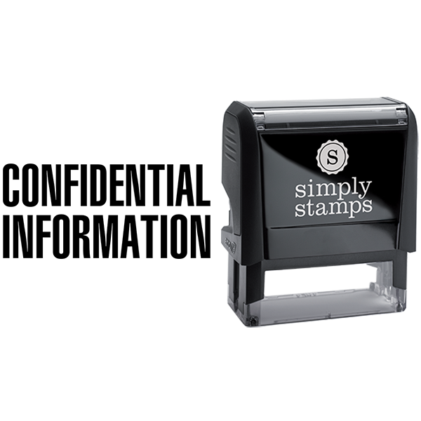 Confidential Information Business Stamp