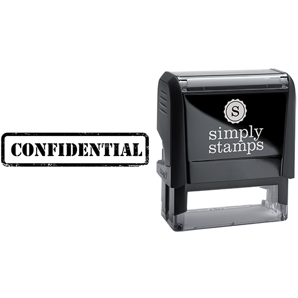 Confidential in Army Stamp Lettering Business Stamp