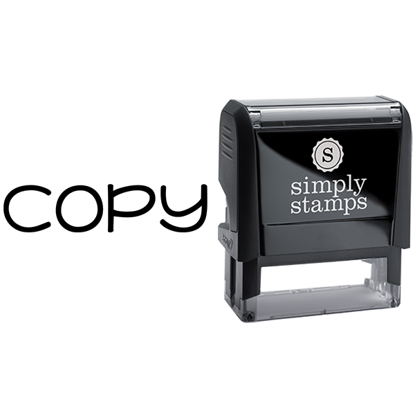 Copy in Lowercase Lettering Business Stamp