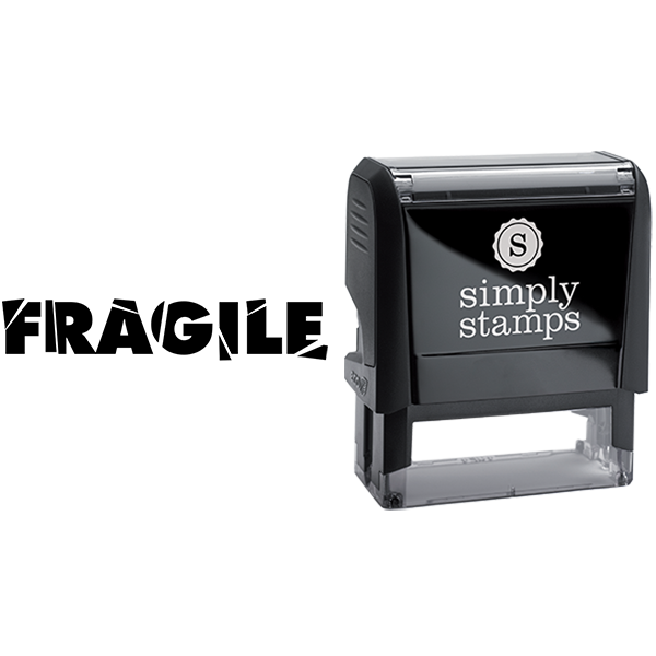 Shattered Text Fragile Business Stamp