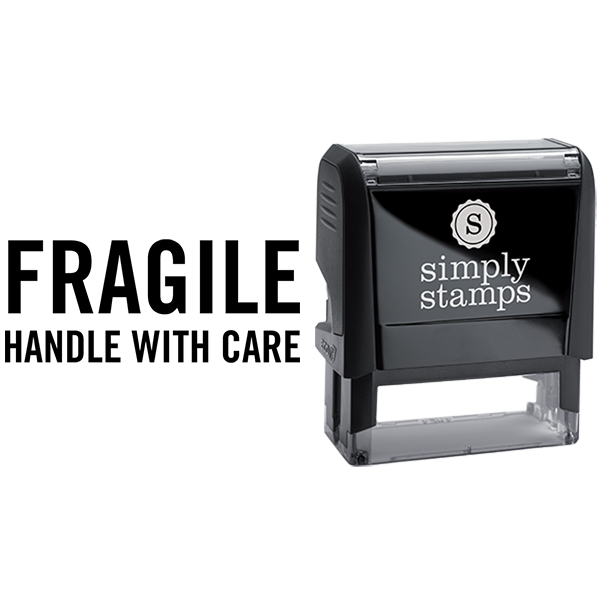 Fragile Handle With Care Business Stamp