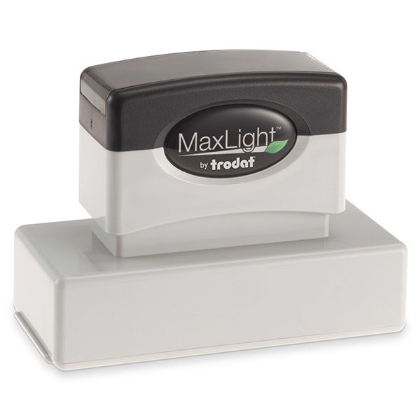 MaxLight Custom Pre-Inked Stamp - MAX-185S -  Black Ink