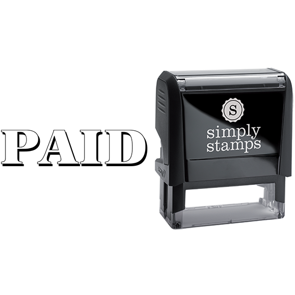 Paid with Shadow Lettering Business Stamp