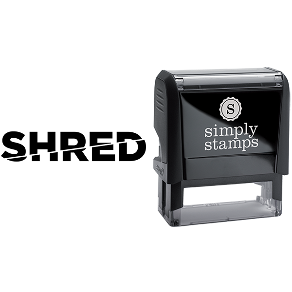 Shred with Text Sliced Business Stamp