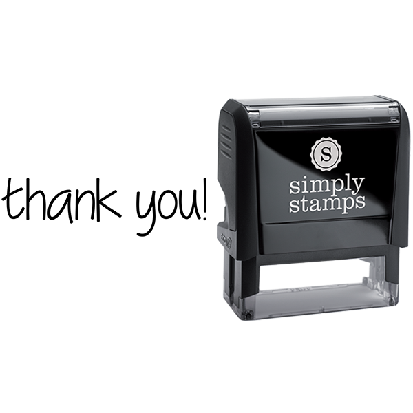Thank You in Lowercase Business Stamp