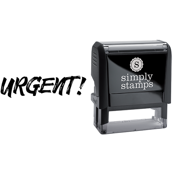 Urgent in Sketched Text Business Stamp