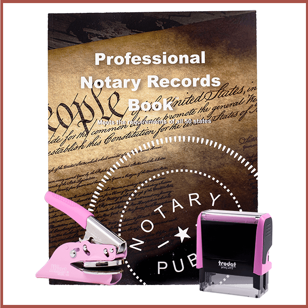Wyoming Pink Value Notary Kit