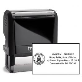 Florida Notary Public Seal Rectangular Stamp