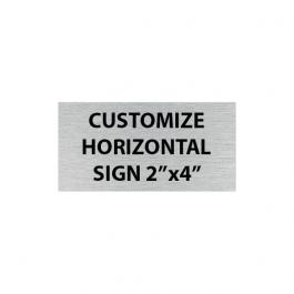 "Engraved 2"" x 4"" Horizontal Sign"
