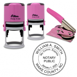 Maryland Round Pink Notary Seal