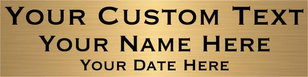 "Three Line Custom Brass Plates   2"" x 8"""