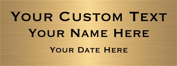 "Custom Three Line Brass Plates   3"" x 8"""