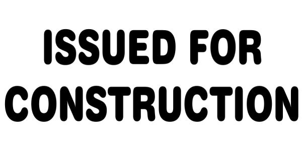 Plan & Blueprint Stamp - Issued for Construction